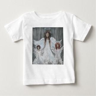 Camiseta Para Bebê Três anjos