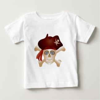 Camiseta Para Bebê Três crânios com bandeira