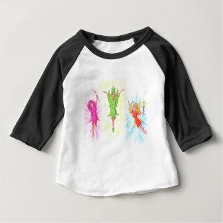 Camiseta Para Bebê Três fadas