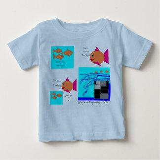Camiseta Para Bebê Três peixes pequenos