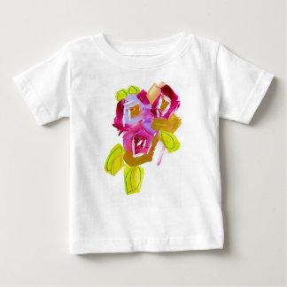 Camiseta Para Bebê Três rosas