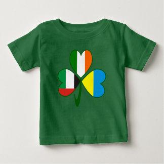 Camiseta Para Bebê Trevo dos UAE Ucrânia Ireland