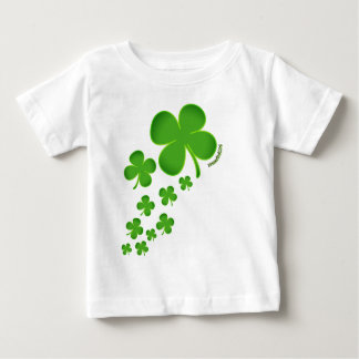 Camiseta Para Bebê Trevo infantil do tshirt do dia de St Patrick
