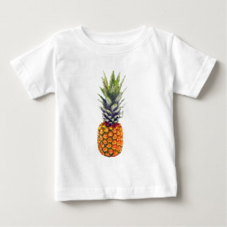 Camiseta Para Bebê Triangulated Baixo-Poli do abacaxi