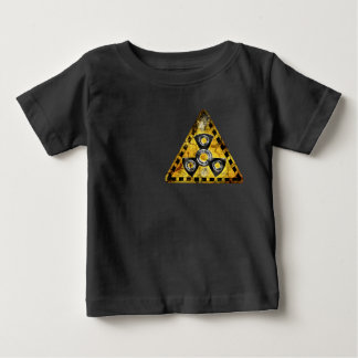 Camiseta Para Bebê Triângulo de advertência da radiação nuclear do
