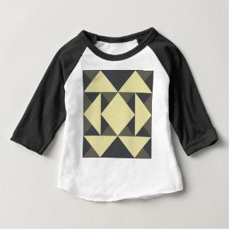 Camiseta Para Bebê Triângulos do preto e do ouro
