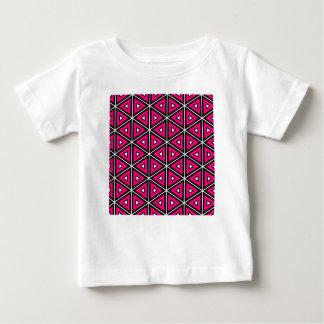 Camiseta Para Bebê Triângulos do rosa quente