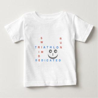 Camiseta Para Bebê Triathlon eu sou dedicado