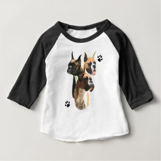 Camiseta Para Bebê Trio do pugilista