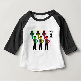 Camiseta Para Bebê Trio temperamental do sinal de trânsito ao lado do