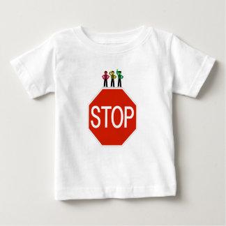 Camiseta Para Bebê Trio temperamental do sinal de trânsito no sinal