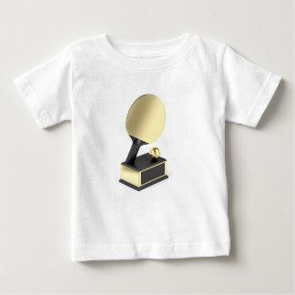 Camiseta Para Bebê Troféu do ténis de mesa