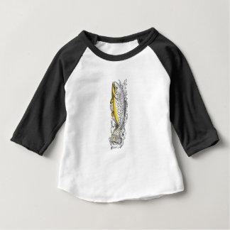 Camiseta Para Bebê Truta de Brown que nada acima do tatuagem