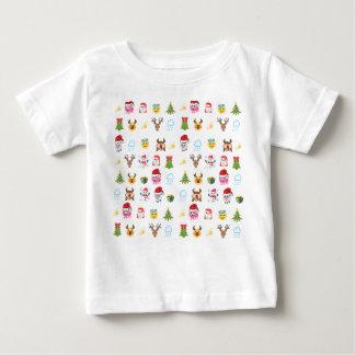 Camiseta Para Bebê Tshirt alegre de Emoji do azevinho