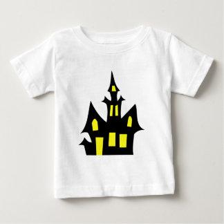 Camiseta Para Bebê Tshirt assustador da casa do Dia das Bruxas
