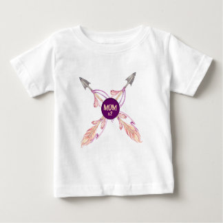 Camiseta Para Bebê Tshirt boémio do bebê das setas da pena da mamã x2
