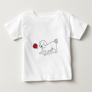 Camiseta Para Bebê Tshirt bonito do cão