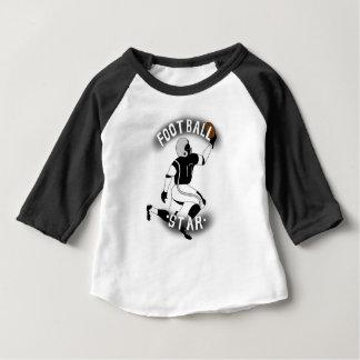 Camiseta Para Bebê Tshirt da estrela de futebol para o bebê