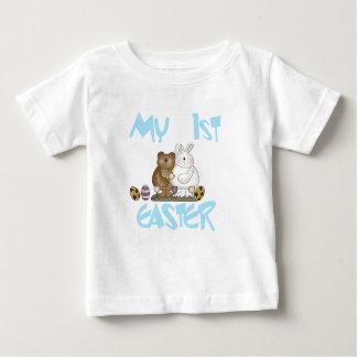 Camiseta Para Bebê Tshirt da páscoa do coelho e do urso ø