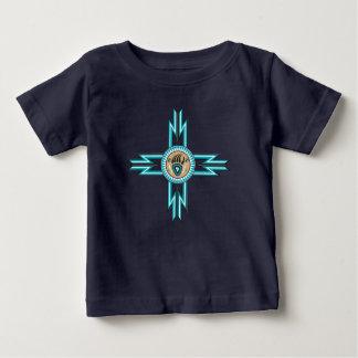 Camiseta Para Bebê Tshirt do bebê do nativo americano da pata de urso