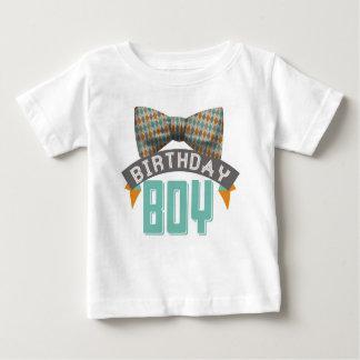 Camiseta Para Bebê Tshirt do menino do aniversário de Bowtie