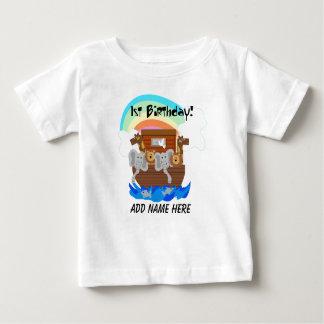 Camiseta Para Bebê Tshirt do primeiro aniversario da arca de Noah