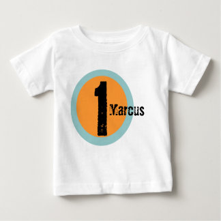 Camiseta Para Bebê Tshirt do primeiro aniversario do nome e da idade
