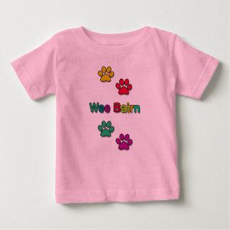 Camiseta Para Bebê Tshirt pequenino do impressão da pata do Bairn