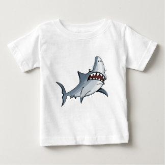 Camiseta Para Bebê Tubarão azul e cinzento dos desenhos animados