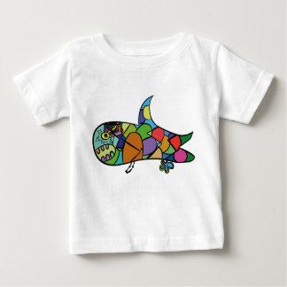 Camiseta Para Bebê Tubarão do bebê - siga seu sonho