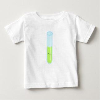 Camiseta Para Bebê Tubo de ensaio Geeky do kawaii
