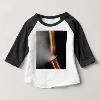 Camiseta Para Bebê Tubulações de cobre com vapor