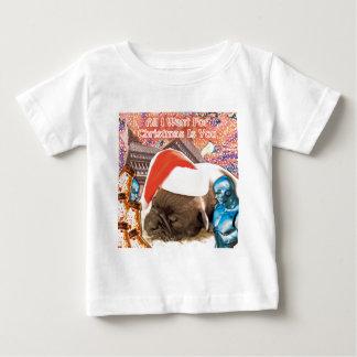 Camiseta Para Bebê Tudo que eu quero para o Natal é você