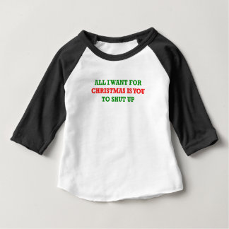 Camiseta Para Bebê Tudo que eu quero para o Natal é você a fechar