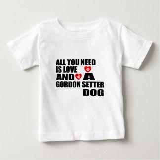 Camiseta Para Bebê Tudo você precisa o design dos cães do SETTER de