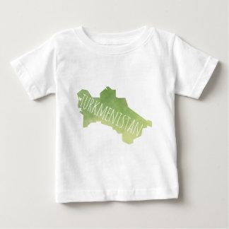 Camiseta Para Bebê Turkmenistan
