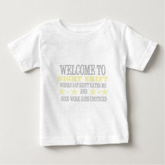 Camiseta Para Bebê Turno da noite