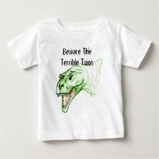 Camiseta Para Bebê Twos terríveis Grumposaurus