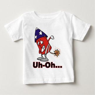 Camiseta Para Bebê Uh oh