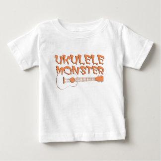 Camiseta Para Bebê ukulele assustador