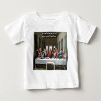 """Camiseta Para Bebê Última ceia """"amor um outro"""" de Jesus @ citações"""