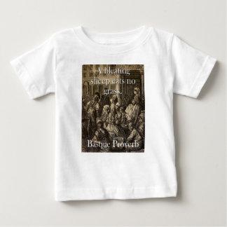 Camiseta Para Bebê Um carneiro do balido come - o provérbio Basque