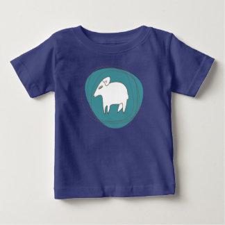 Camiseta Para Bebê Um carneiro nos ovals