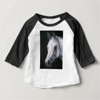 Camiseta Para Bebê Um cavalo branco