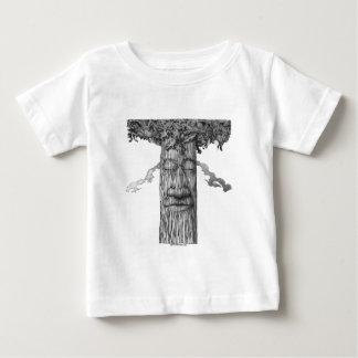 Camiseta Para Bebê Um cobrir poderoso B&W da árvore