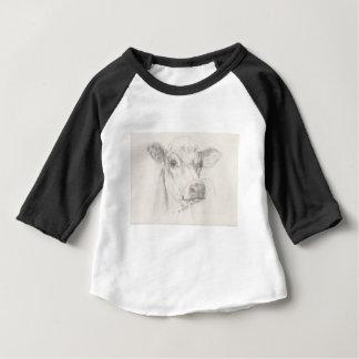 Camiseta Para Bebê Um desenho de uma vaca nova