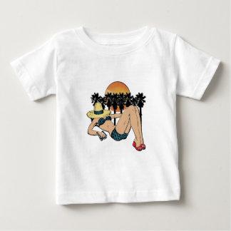 Camiseta Para Bebê Um dia no paraíso
