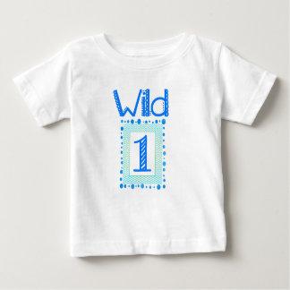 Camiseta Para Bebê Um equipamento selvagem do aniversário do verde