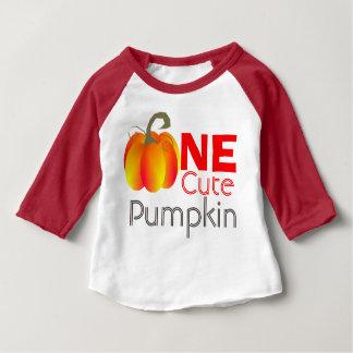 Camiseta Para Bebê Um gráfico outonal engraçado da abóbora bonito