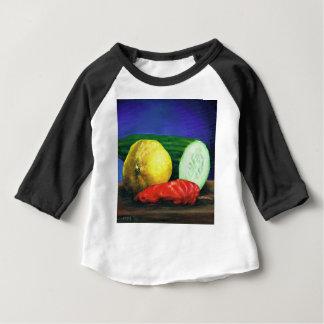 Camiseta Para Bebê Um limão e um pepino